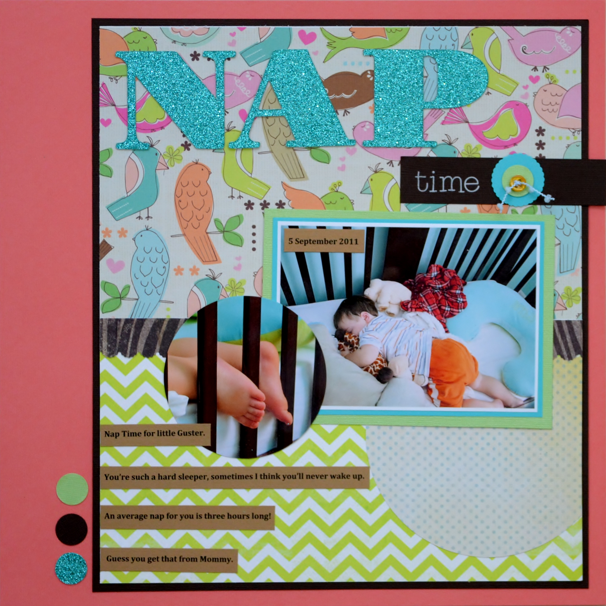 scrapbooking layout, scrapbooking, nap time