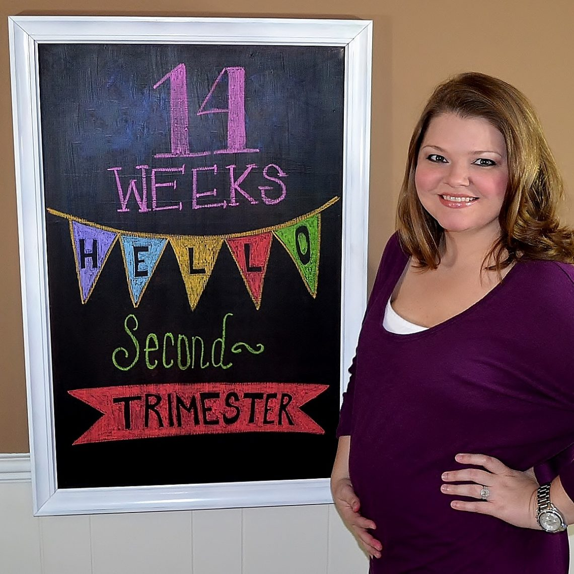 second trimester, pregnancy chalkboard