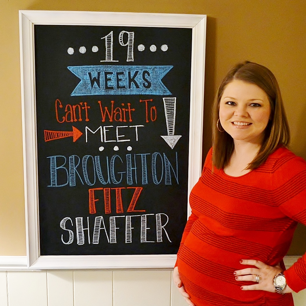 pregnancy chalkboard, 19 weeks pregnant, pregnancy, family
