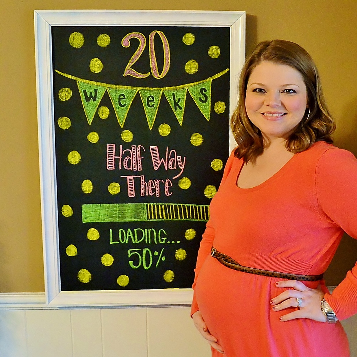 Pregnancy Chalkboard: 20 Weeks and We're Halfway There!