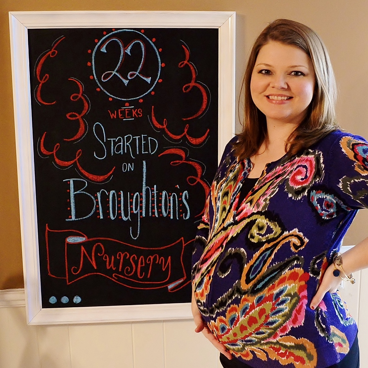 Pregnancy Chalkboard: 22 Weeks and Starting on the Nursery