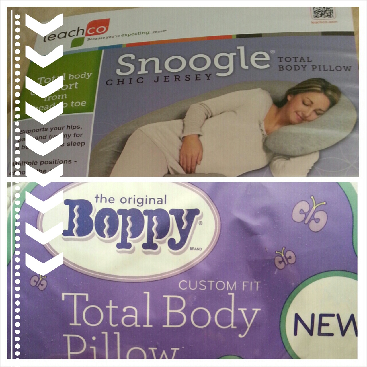 Pregnancy Pillow Wars: Boppy versus Snoogle