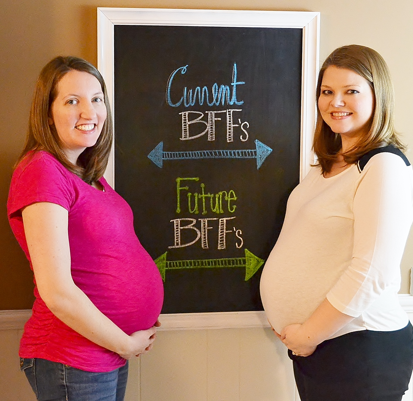 pregnancy chalkboard 27 weeks and future bff s